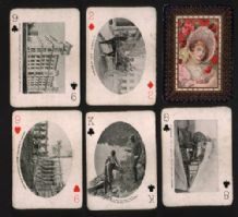 Antique playing cards Canada Railway Souvenir 1905